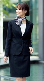 51760 en joie(アンジョア) 繊細なストライプで美人度アップのスカート(53cm丈) 93-51760