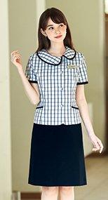 56613 en joie(アンジョア) お腹周りを圧迫しないストレスフリーなAラインスカート 93-56613