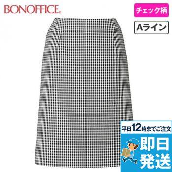 LS2743 BONMAX/アミティエ Aラインスカート チェック