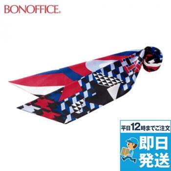 BONMAX BCA9109 千鳥格子とジオメトリックの2つの柄を楽しめるスカーフリボン 36-BCA9109