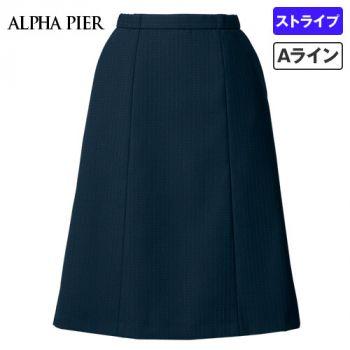 AR3882 アルファピア Aラインスカート ドットストライプ 40-AR3882