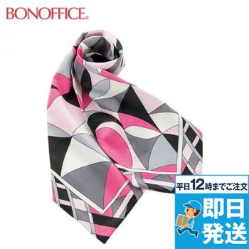 BA9136 BONMAX 都会的なパターンが魅力の正統派スカーフ 36-BA9136