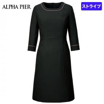 AR6882 アルファピア ワンピース(女性用) ドットストライプ(ストレッチ)