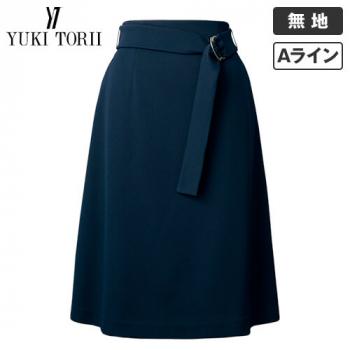 YT3308 ユキトリイ Aラインスカート 無地 40-YT3308