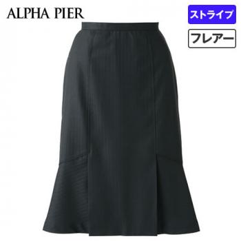 AR3815 アルファピア デザインフレアースカート シャドーストライプ