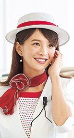 en joie(アンジョア) OP603 en joie(アンジョア)アクセントになる赤リボンがかわいい帽子 メッシュタイプ 93-OP603