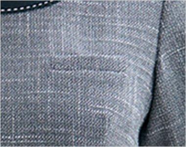 名札ループ付き左胸ポケット