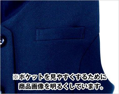 左胸ポケット|ペン・小物が収納できます。