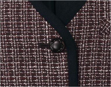 ダイヤ柄のシックでかわいい黒ボタン