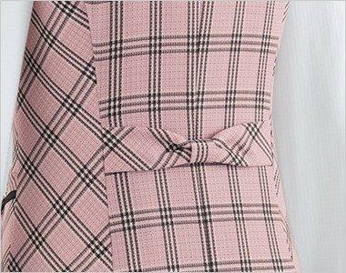 リボン付き背ベルト|バックスタイルにはフェミンなリボンのアクセント。