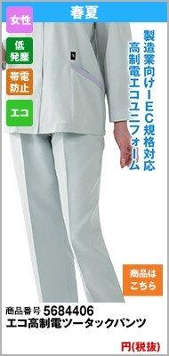 エコ高制電レディースパンツ