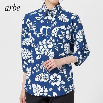 七分袖のアロハシャツ