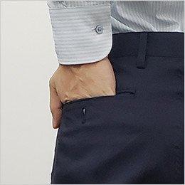後ろ左ポケット(ボタン付き)
