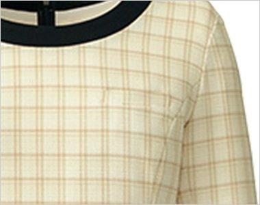 名札ホール付き左胸ポケット
