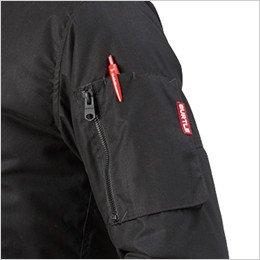 左袖 ファスナ―ポケット(ペン差し付き)