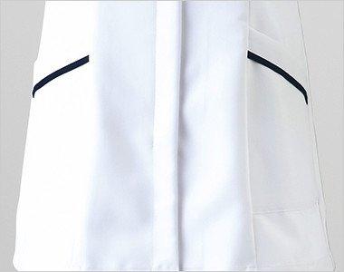 両脇 収納力抜群な斜めポケット付き