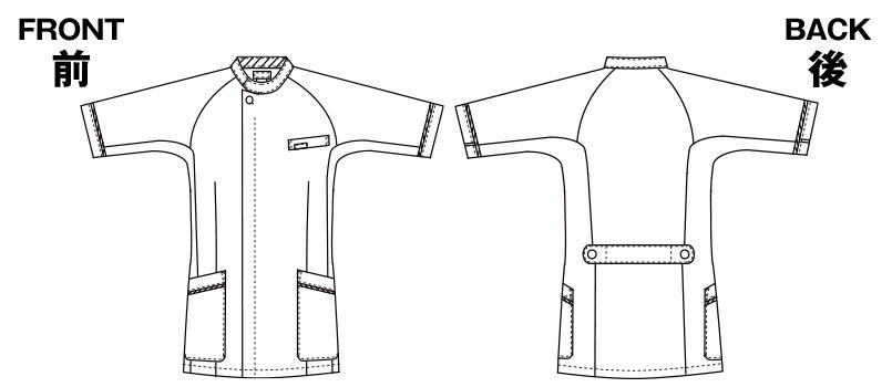 1014CR FOLK(フォーク) メンズケーシーのハンガーイラスト・線画