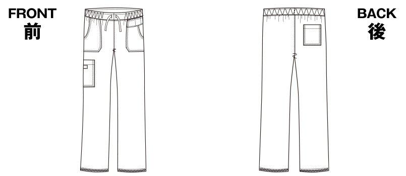 5020SC FOLK(フォーク)×Dickies ストレートパンツ 男女兼用のハンガーイラスト・線画