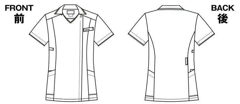 7024SC FOLK(フォーク) レディス ジップスクラブのハンガーイラスト・線画