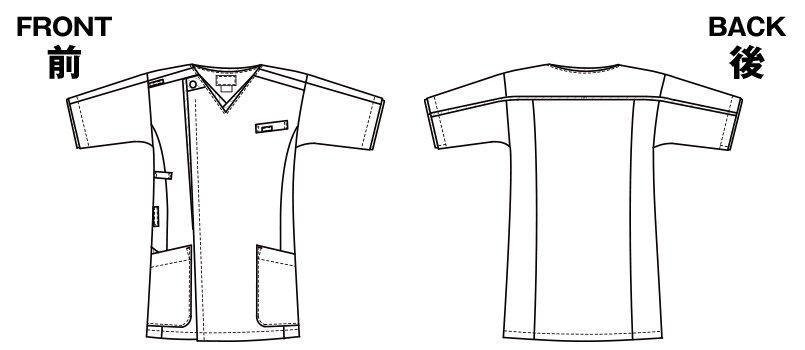 7051SC FOLK(フォーク) メンズ ジップスクラブのハンガーイラスト・線画