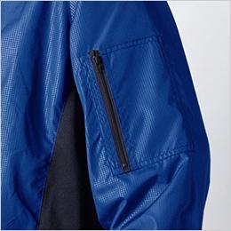 左袖 ファスナー付ポケット