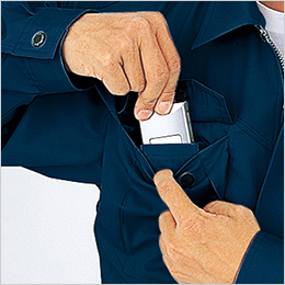 右胸 携帯電話収納ポケット