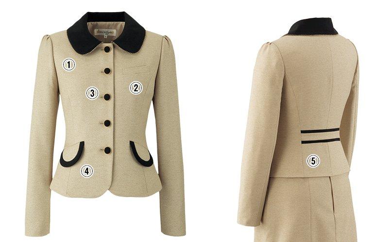 アンジョア81520ジャケットのこだわりポイント