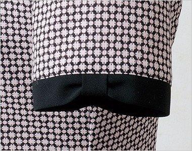 リボン風にちょっとかわいい黒い袖口