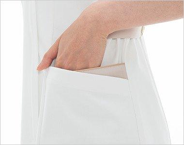 おしゃれで収納力のある二重構造の両脇ポケット