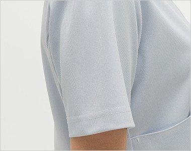 腕を細くみせてくれるスッキリした袖