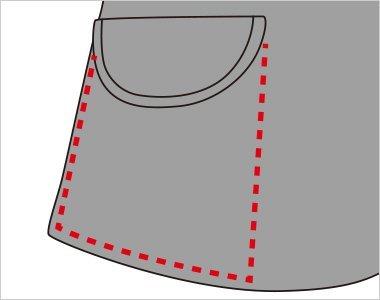 飾りフラップ付の深めのポケットは抜群の収納力