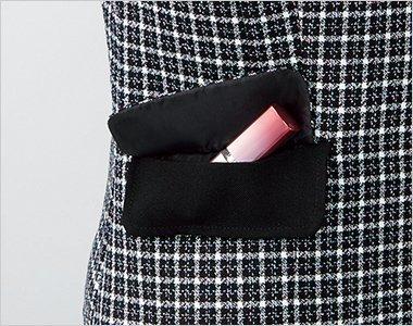 ポケット上の印鑑・リップ用ポケット