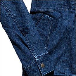 落下防止に優れたフラップ付き腰ポケット