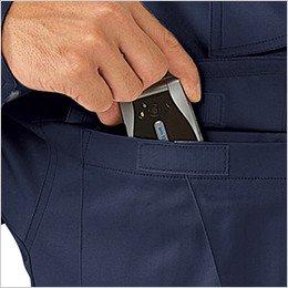 左胸 マジックテープ式ポケット