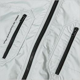 両胸 ファスナー付きポケット