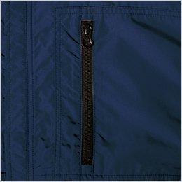 左胸 ファスナー縦ポケット