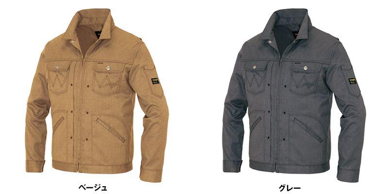 AZ64101 アイトス Wrangler(ラングラー) ジップアップジャケット(男女兼用) 色展開