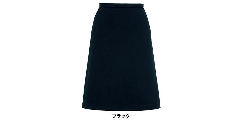 LS2737 BONMAX/フレキシー Aラインニットスカート ニット 無地 色展開