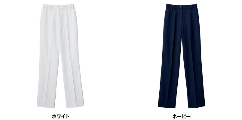 自重堂WHISEL WH12012 レディースパンツ(女性用) すっきり ウエストゴム(両サイド) 色展開