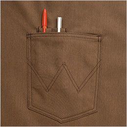 AZ64281 アイトス Wrangler(ラングラー) ミディエプロン(男女兼用) ペン差し付ポケット
