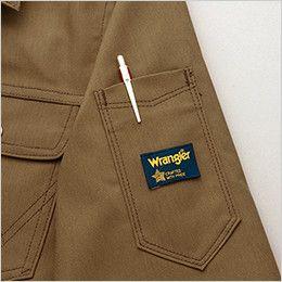 AZ64430 Wrangler(ラングラー) ジップアップジャケット(男女兼用) 袖の取りやすい位置にペン差しを装備