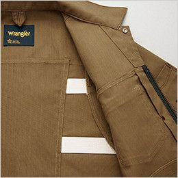 AZ64430 Wrangler(ラングラー) ジップアップジャケット(男女兼用) ラングラー社の伝統の動きやすさを追求したオリジナルのプリーツゴム仕様