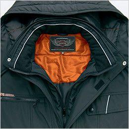AZ8560 アイトス 防風防寒コート[フード付き・取り外し可能] 衿フリース+反射パイピング