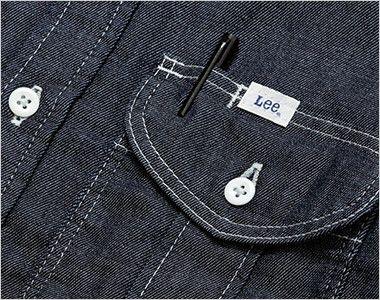 LWS43001 Lee ワーク長袖シャツ(女性用) ポケットにあるペン挿し口