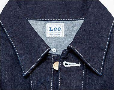 LWU39001 Lee ユニオンオール(長袖ツナギ)(男女兼用) ボタンを開けると開襟スタイルに