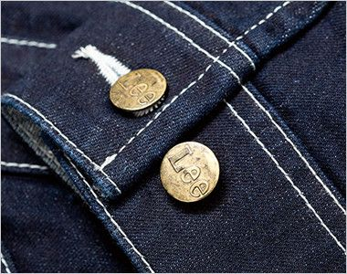 LWU39001 Lee ユニオンオール(長袖ツナギ)(男女兼用) 調節可能な袖口のダブルボタン