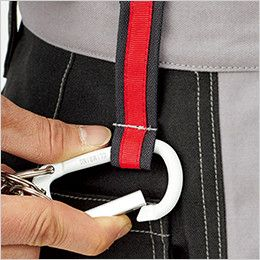 RP6910 ROCKY ノータックパンツ(男女兼用) オックスフォード ベルト通しは、カラビナなどを装着できるダブルループ付き