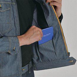 バートル 1501 [秋冬用]ヘリンボーン&T/Cソフトツイルジャケット(男女兼用) 内ポケット