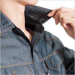 バートル 1515 ヘリンボーン&T/Cライトチノ長袖シャツ(男女兼用) ネック吸汗ニット 吸汗ニット
