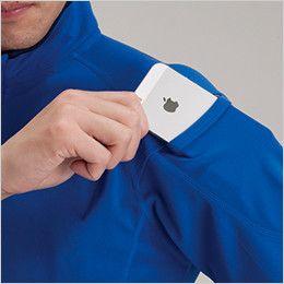 バートル 415 ドライメッシュ半袖ジップシャツ[左袖ポケット付](男女兼用) マルチポケット